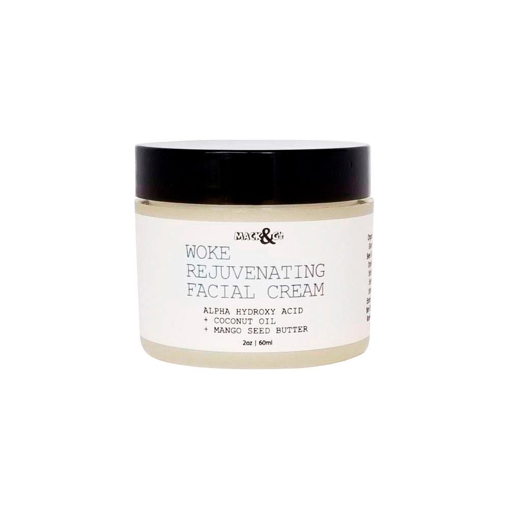 WOKE Rejuvenating Facial Cream | Alpha Hydroxy Acid – Coconut Oil – Mango